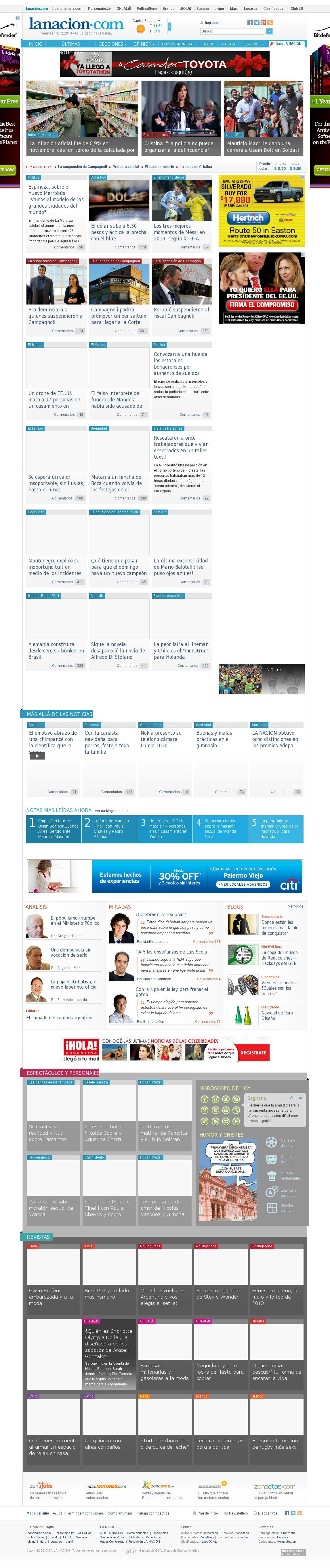 lanacion.com at Friday Dec. 13, 2013, 9:10 p.m. UTC