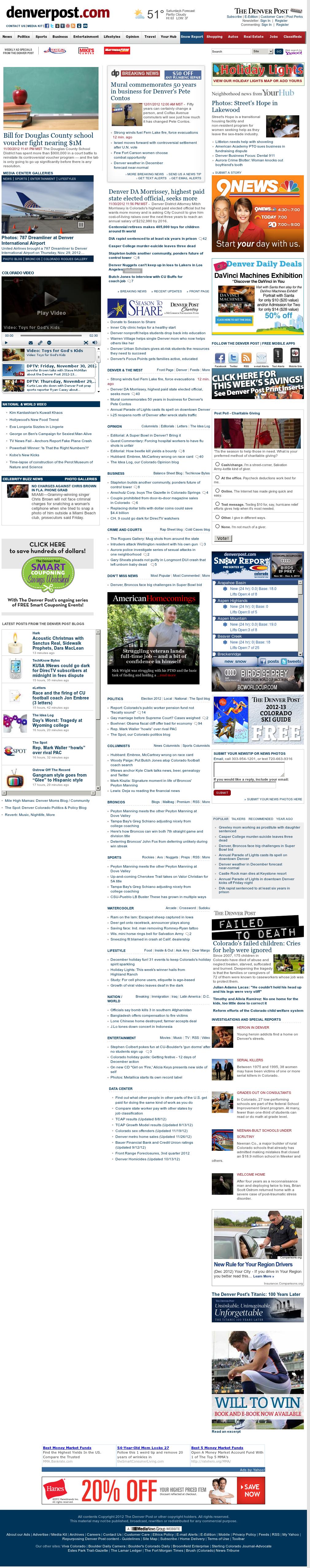 Denver Post at Saturday Dec. 1, 2012, 4:06 p.m. UTC