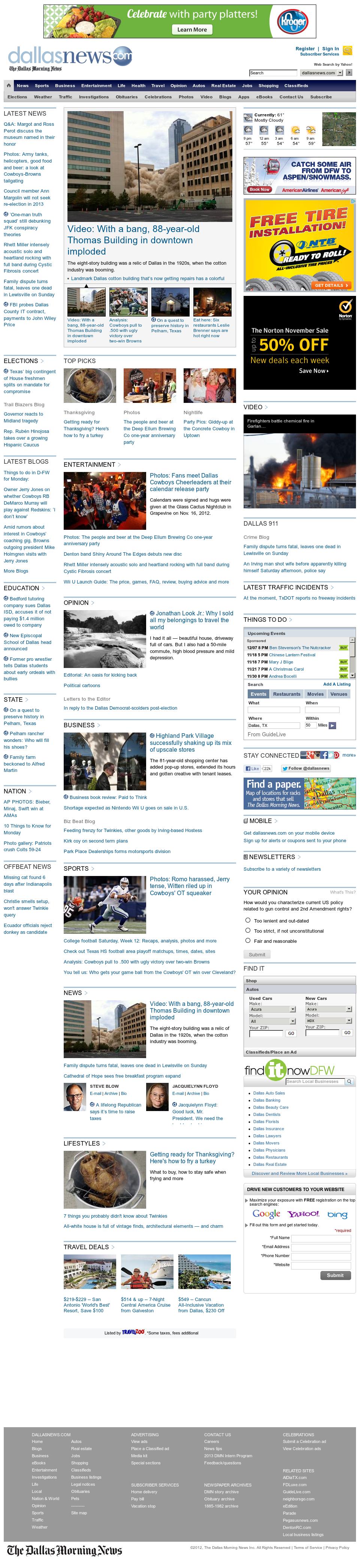 dallasnews.com at Monday Nov. 19, 2012, 3:06 a.m. UTC