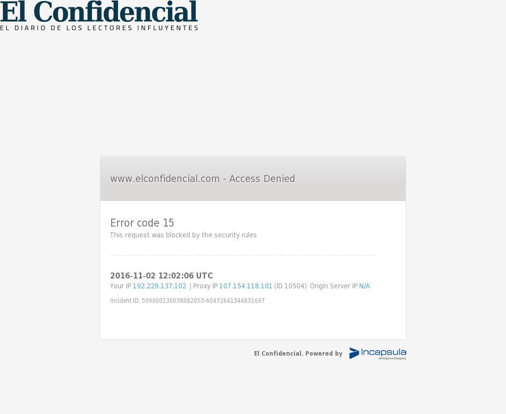 El Confidencial at Wednesday Nov. 2, 2016, 12:03 p.m. UTC