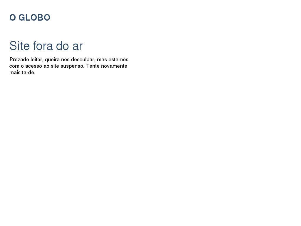 O Globo at Wednesday Jan. 20, 2016, 12:09 p.m. UTC