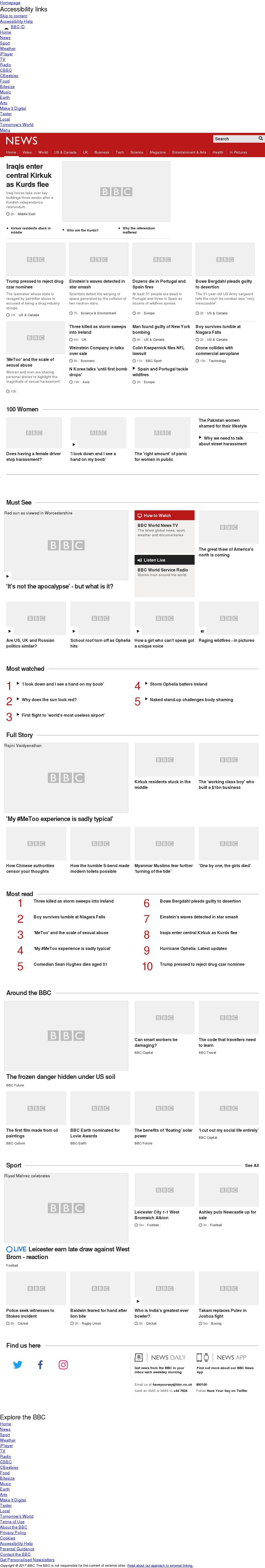 BBC at Monday Oct. 16, 2017, 9 p.m. UTC