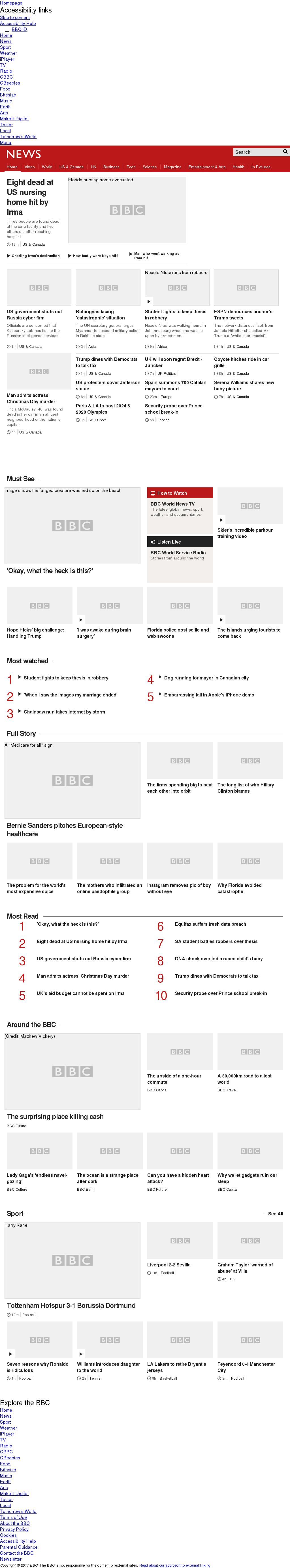 BBC at Wednesday Sept. 13, 2017, 10:01 p.m. UTC