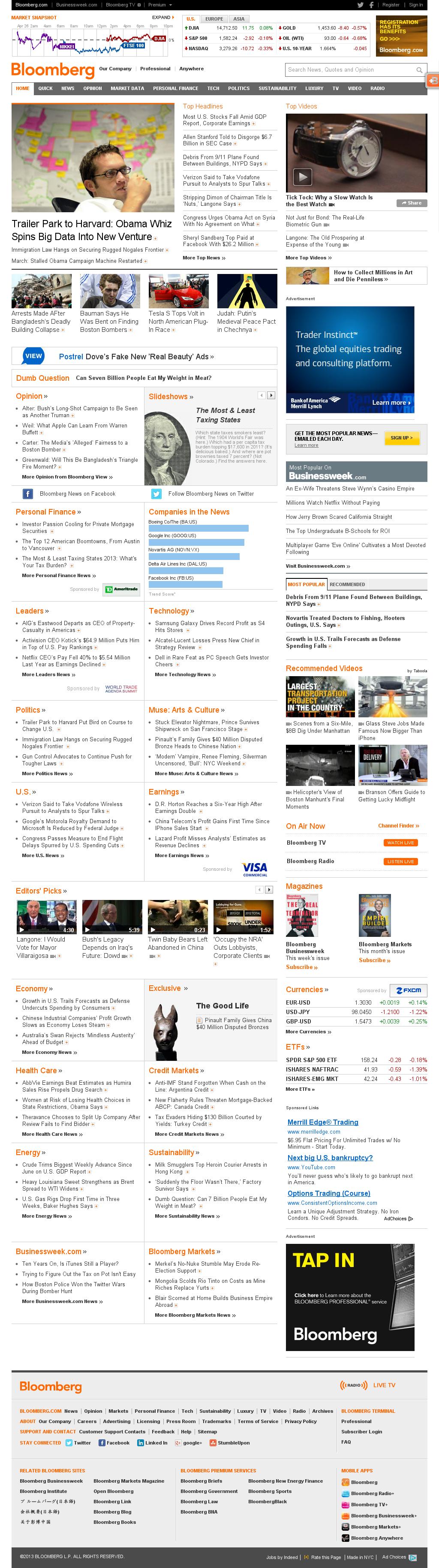 Bloomberg at Saturday April 27, 2013, 5:02 a.m. UTC