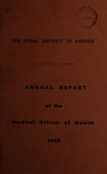 Cover of: [Report 1969] | Kerrier (England). Rural District Council