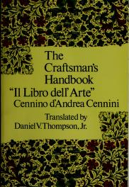 Cover of: The craftsman's handbook | Cennino Cennini