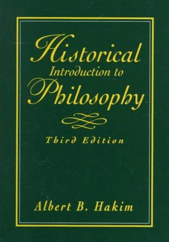Historical introduction to philosophy by Albert Hakim