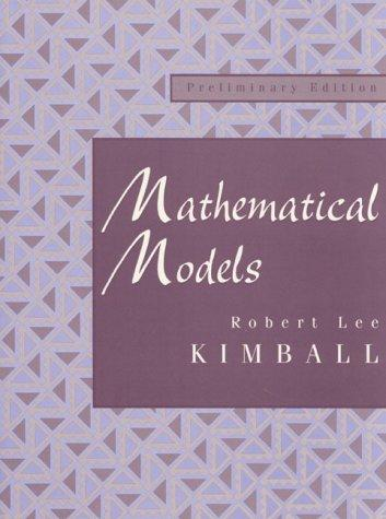 Mathematical Models by Robert Lee Kimball