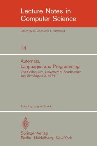 Automata, Languages and Programming by J. Loeckx