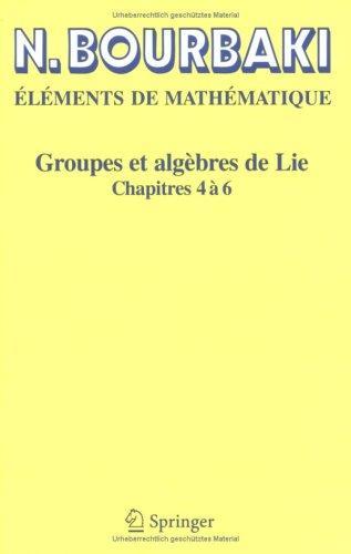 Groupes et algèbres de Lie