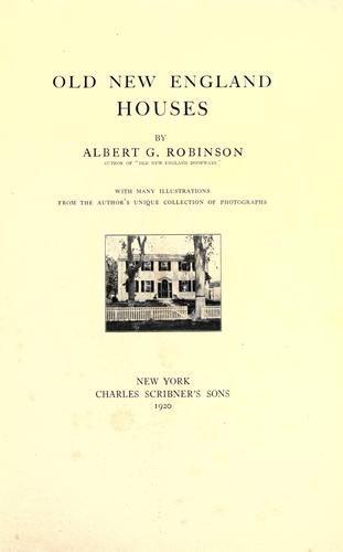 Old New England houses