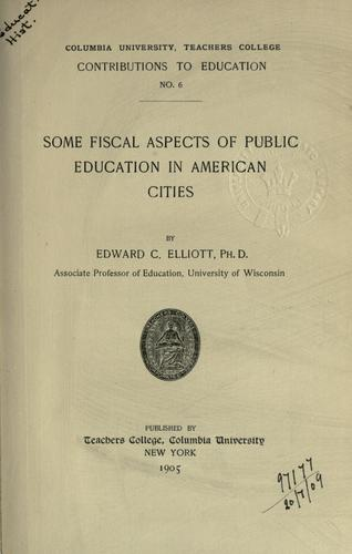 Some fiscal aspects of public education in American cities.
