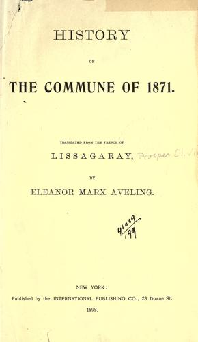 History of the Commune of 1871 by Lissagaray