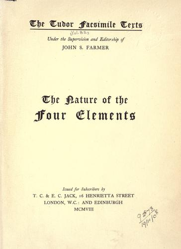 The nature of the four elements by