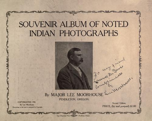 Souvenir album of noted Indian photographs