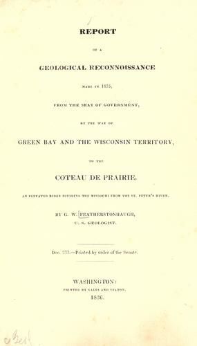 Report of a geological reconnoissance made in 1835