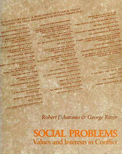 Social problems by Robert J. Antonio