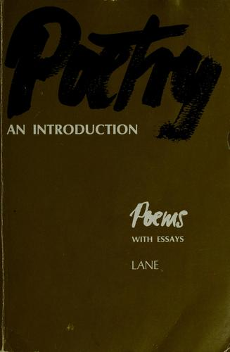 Poetry, an introduction by William Guerrant Lane